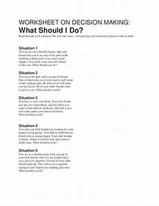 worksheet decision making