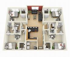 25 three bedroom houseapartment floor 50 four 4 bedroom apartment house plans apartment
