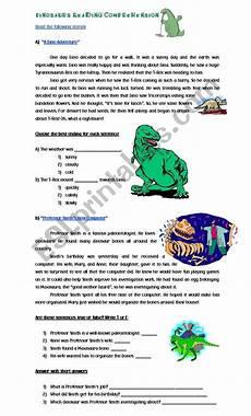 dinosaur grammar worksheets 15313 dinosaurs reading comprehension esl worksheet by cyn