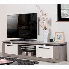 meuble bois gris meuble tv 2 portes 1 niche bois gris laque blanche
