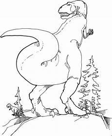 Ausmalbilder Zu Dinosaurier Gefaehrlicher Dinosaurier Ausmalbild Malvorlage