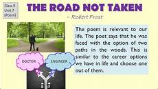quot the road not taken quot explanation cbse class 9 english lesson question answers summary youtube