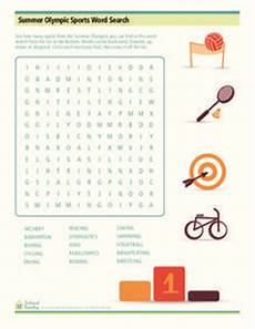 summer olympic sports word search worksheet for 3rd 5th grade lesson planet