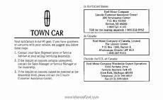 manual repair free 2009 lincoln town car interior lighting 1997 lincoln town car owner s manual