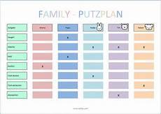 Putzplan Vorlage Kinder My Things Haushaltsplaner