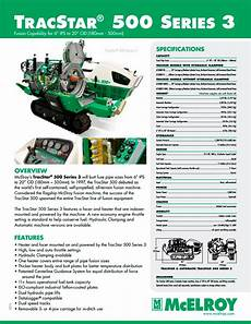 Mcelroy Tracstar 174 500 Series 3 Fusion Machine