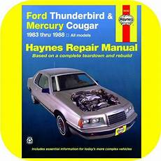 car repair manuals online free 1989 mercury cougar electronic toll collection repair manual book ford thunderbird mercury cougar xr7 ebay
