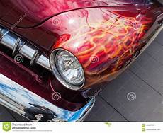 american muscle car with custom paint stock image