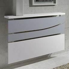 cache radiateur design cache radiateur design en m 233 tal blanc et verre d 233 poli
