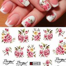 Nouveau Stickers Roses Bijoux Ongles Water Decals