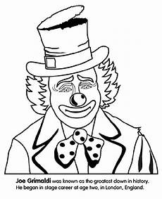 clown coloring page crayola