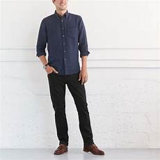 can i wear a navy blue shirt with black and brown