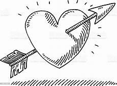 Malvorlagen Herz Mit Pfeil Liebe Herz Pfeil Zeichnen Stock Vektor Und Mehr Bilder