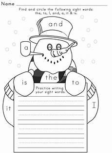 free winter handwriting worksheets 20021 sight word worksheet winter 1 writing activities