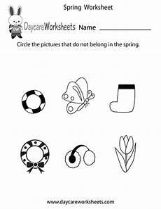 free preschool spring worksheet