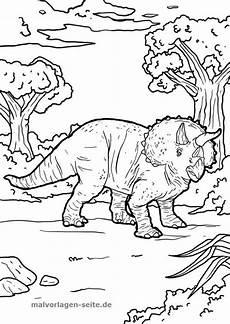 Malvorlagen Dinosaurier Coloring Malvorlage Dinosaurier Triceratops Malvorlagen