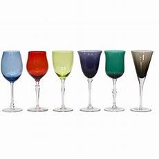 bicchieri calice calici etnici vetro 6pz acccessori tavola etnici