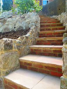 how to build garden steps using bricks and paving slabs
