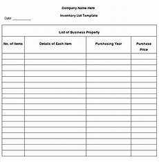 inventory list template 13 free word excel pdf documents download free premium templates