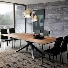 table extensible bois 15517 table design extensible rectangulaire en bois et m 233 tal 4x4 4 pieds