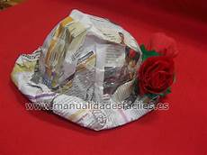 manualidades con material reciclado sombreros facil y rapidos de hacer con periodicos reciclados