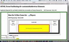 html div contenteditable form tutorial robert