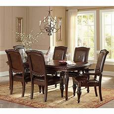 antoinette dining room set w leg table steve silver furniture furniture cart