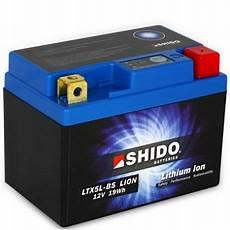 batterie lithium moto batterie lithium ion shido pour moto ltx5l bs dans votre