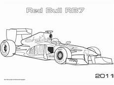 ausmalbild bull rb7 formel 1 auto ausmalbilder
