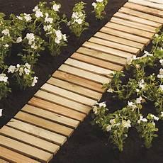 chemin bois jardin chemin de potager l 260 cm castorama potager jardins