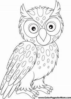 Ausmalbilder Lustige Eulen Owl Coloring Page 26 Coruja Desenho