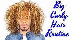 big curly hair routine wash and go for natural afro curls how to tutorial