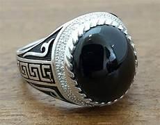sterling silber herren ring mit onyx stein 925k pulsera