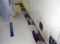 bodenablauf keller erneuern installing a basement sump and perimeter drain for