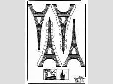 Bouwplaat Eiffeltoren   Knutselen bouwplaten