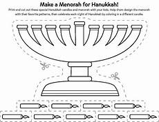 celebrate hanukkah with a cut out menorah printable