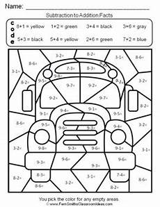 2nd grade color by number worksheets 16103 2nd grade go math 3 5 relating addition and subtraction color by numbers