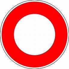 Panneau De Signalisation De Circulation Interdite En