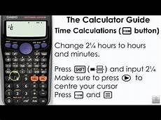 time calculations using casio calculator degrees