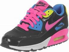 nike air max 90 mesh gs shoes black pink