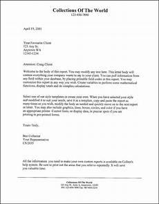 client letter template sles