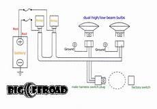 Headlight Wiring Diagram 2 by Big Offroad Headlight Wiring Kit Opiebennett