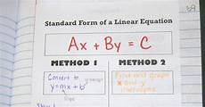 math love standard form of a linear equation