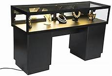 Koffer Als Tisch - lockable jewelry display black with tempered glass