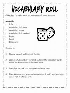vocabulary word work cente by liz ridgeway teachers