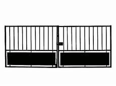 portail en fer 4 metres pas cher portail fer horizon noir 300 x h 120 cm castorama