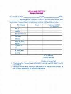 free 7 sle salary statement forms in word pdf