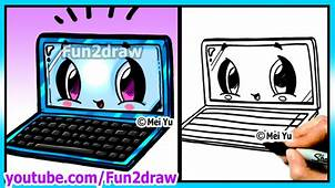 Learn To Draw Back School Laptop – Art Lessons For