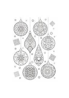 Ausmalbilder Weihnachten Muster Verschiedene Christbaumkugeln Weihnachtsmalvorlagen