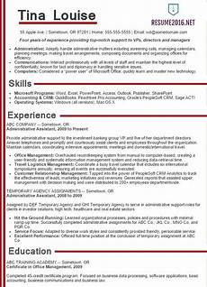 administrative assistant resume sles 2016 choose it